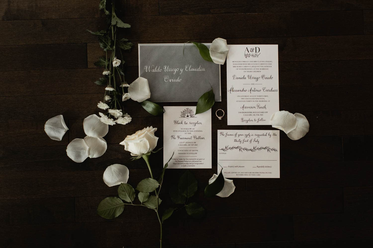 Fairmont Palliser Wedding Stationary