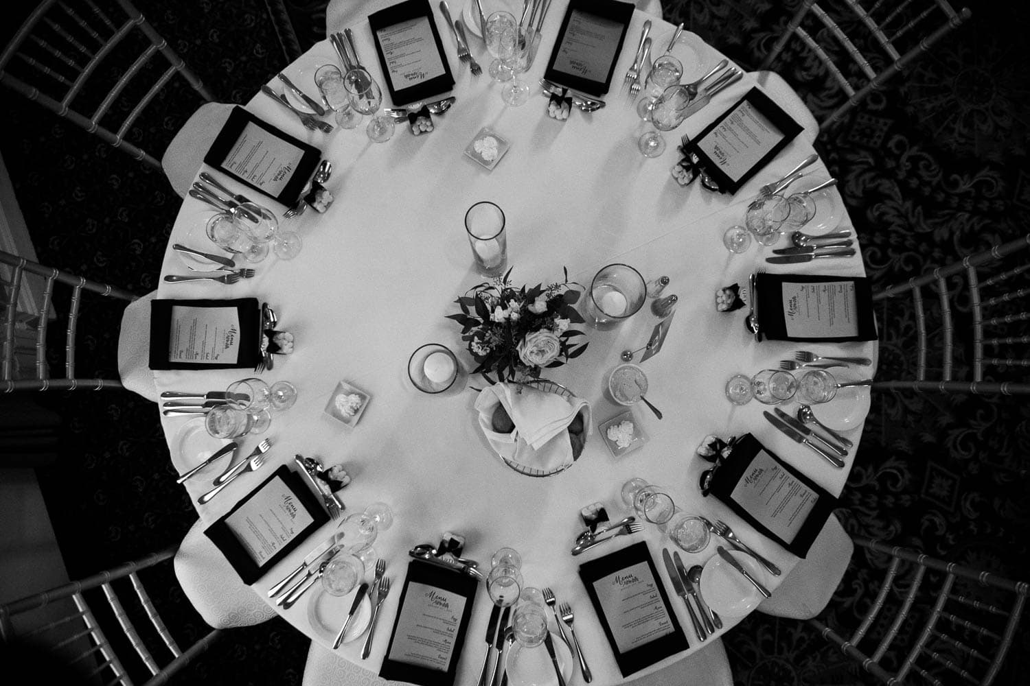 Calgary Fairmont Palliser Wedding table setting