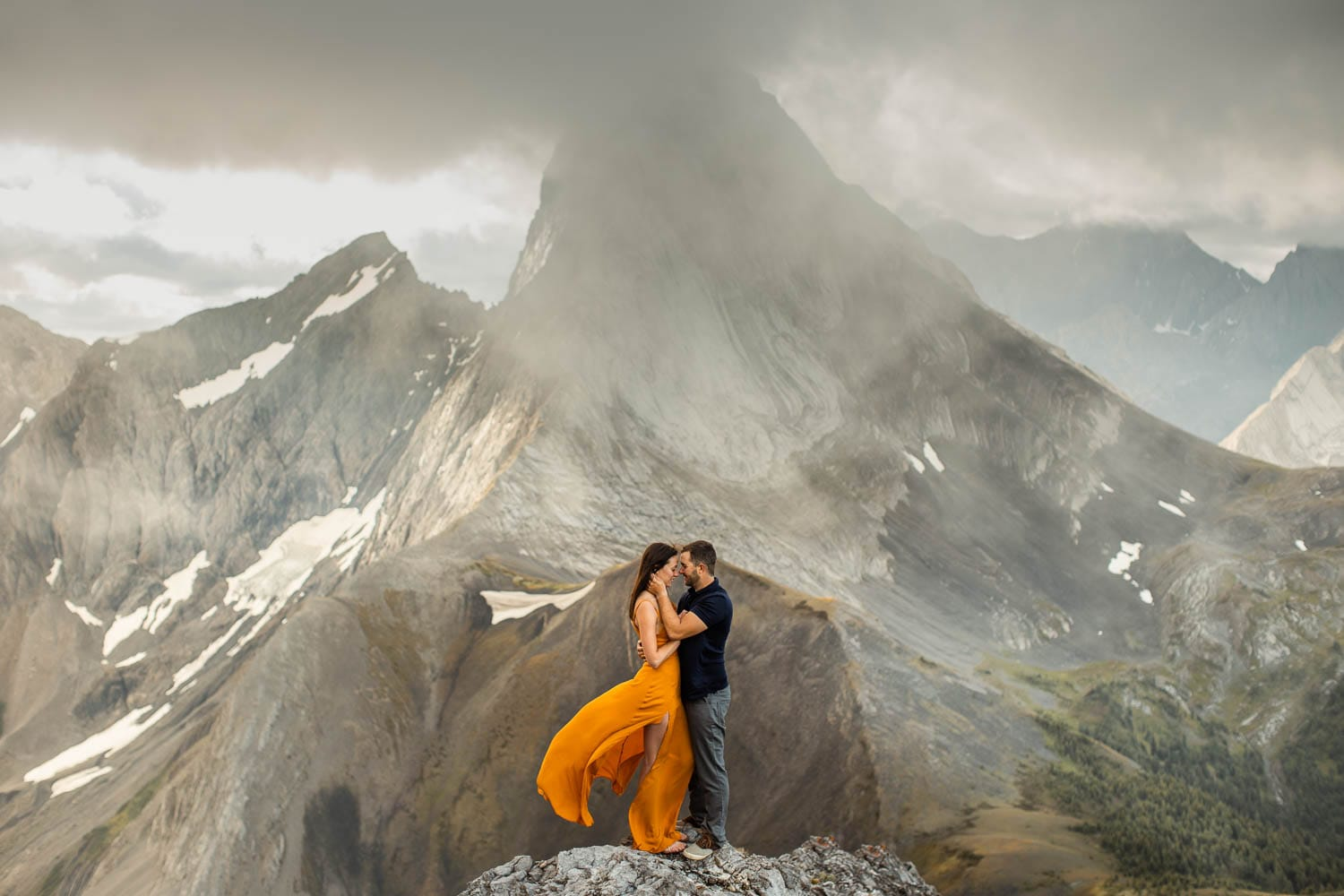 banff engagement photographer during an adventure session