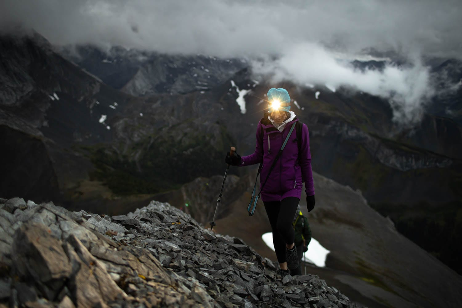 hiking with headlamp