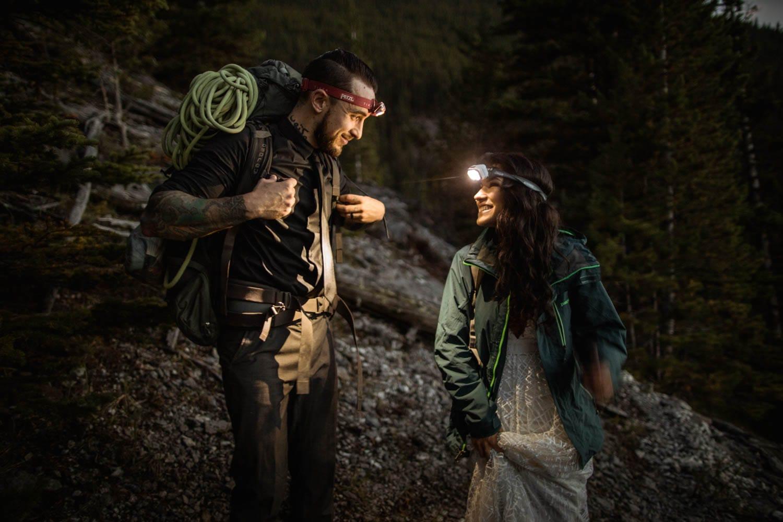 Banff climbing elopement