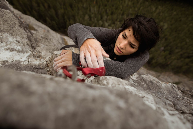 Bride Lead climbing Elopement
