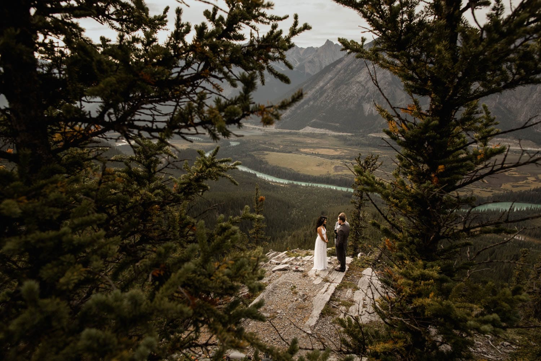 Banff Elopement Photographers ceremony