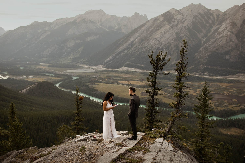 Banff Elopement Vows