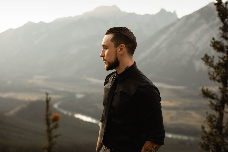 Banff Elopement groom portrait