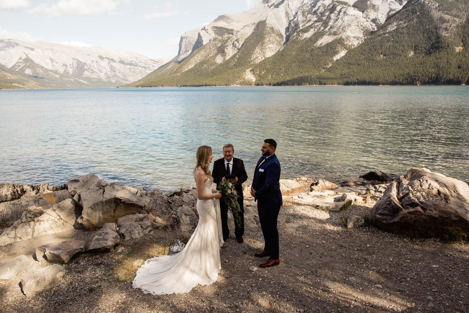 Lake Minnewanka ceremony
