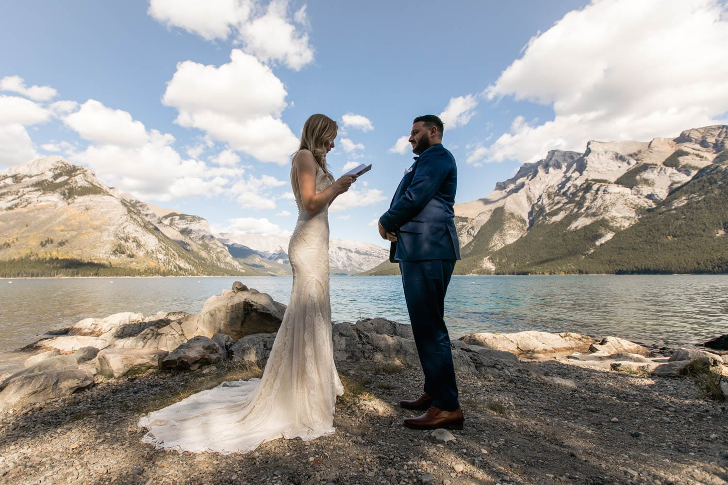 Lake Minnewanka Wedding Ceremony