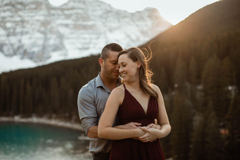 Moraine Lake Sunset Engagement