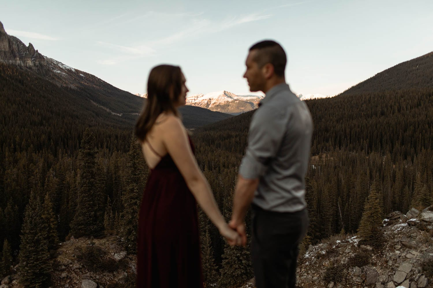Couples Portrait in the mountains