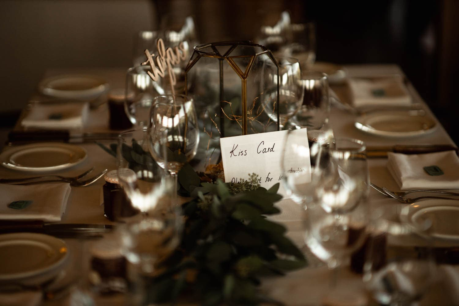 wedding table setting detail