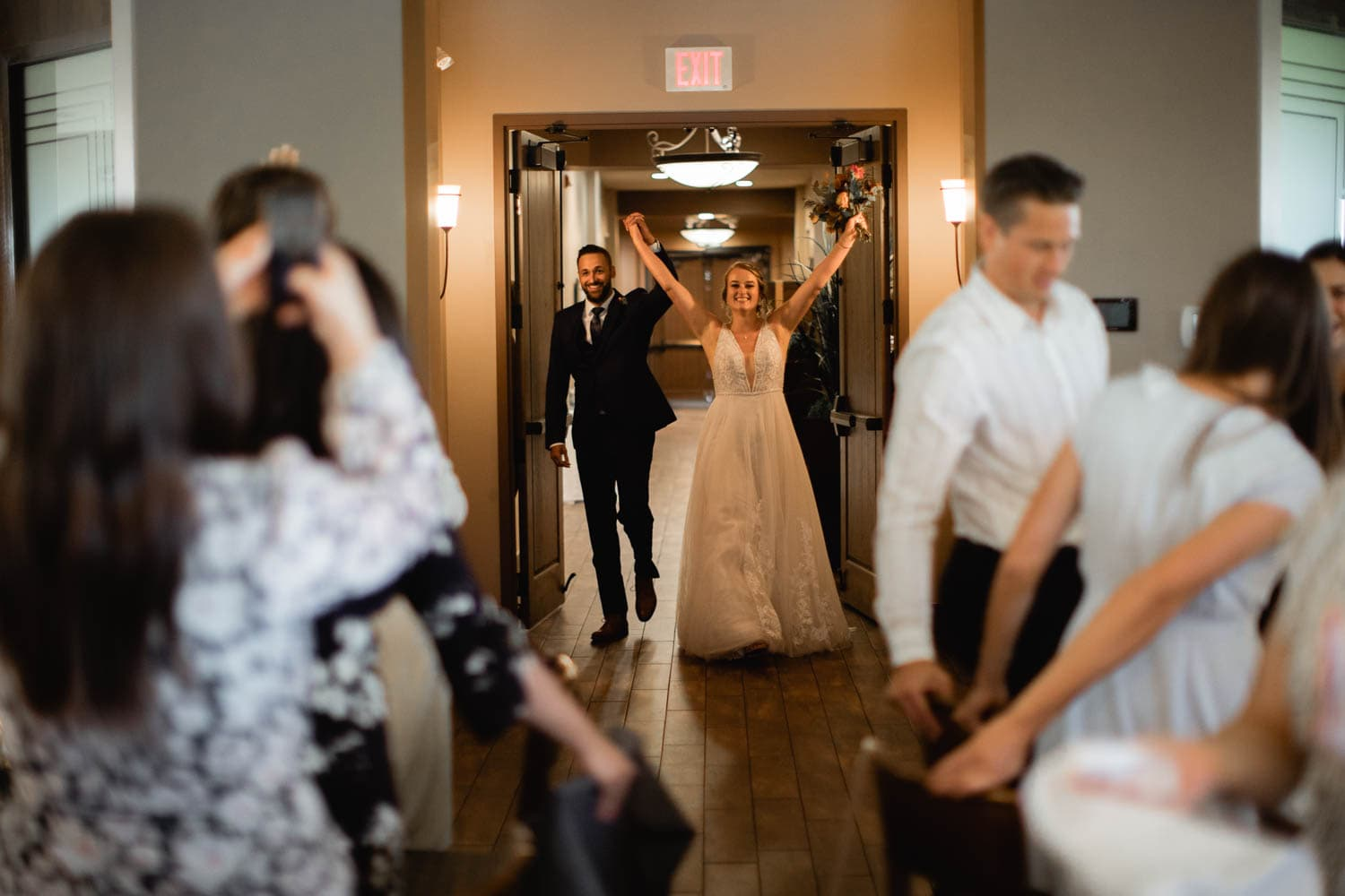 bride and groom entrance