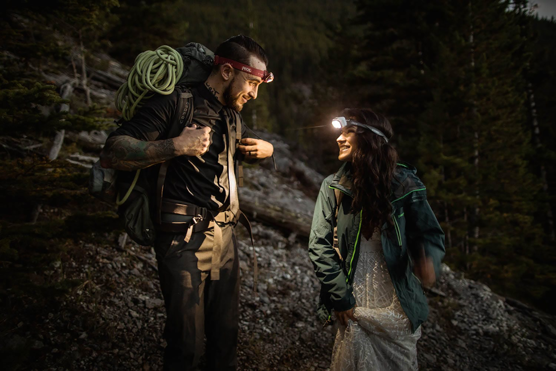 Banff Climbing Elopement Photographers