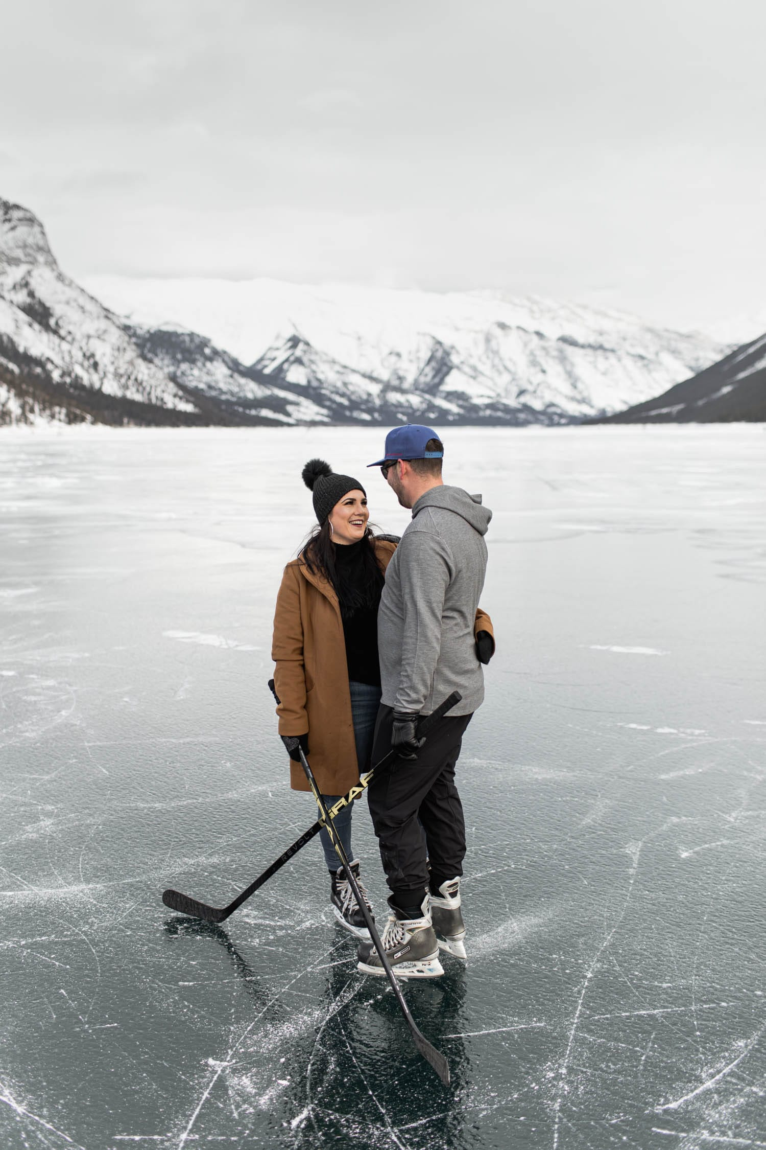Banff Winter Skating Engagement