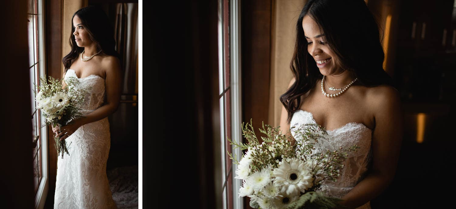 bride at Prairie Creek Inn