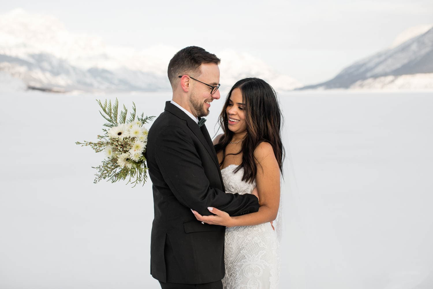 Abraham Lake Winter Elopement