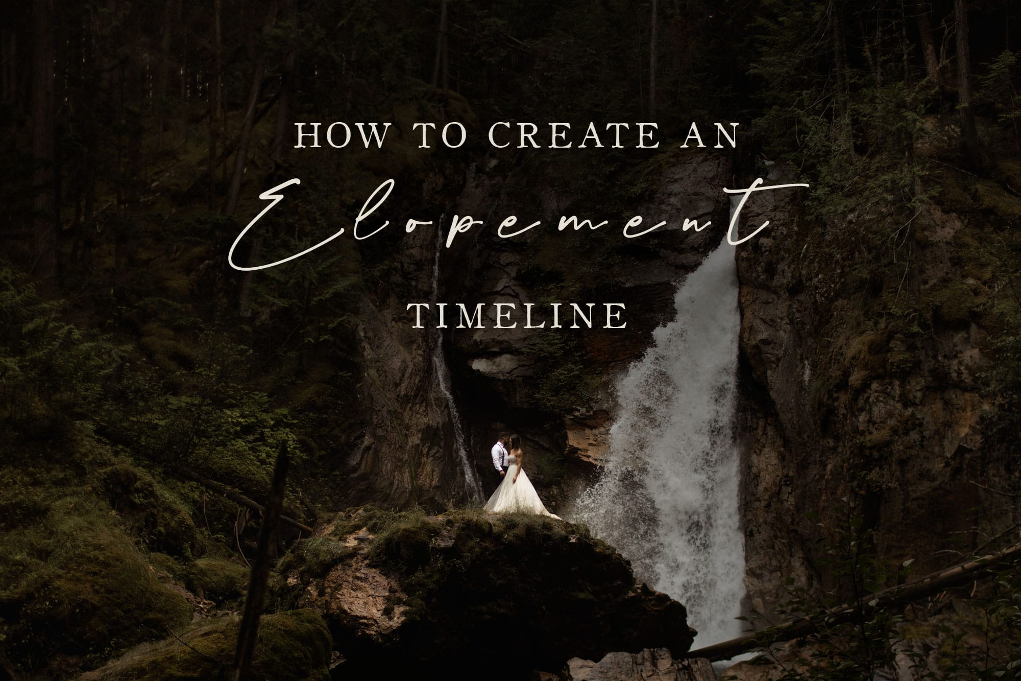 how to create an elopement timeline