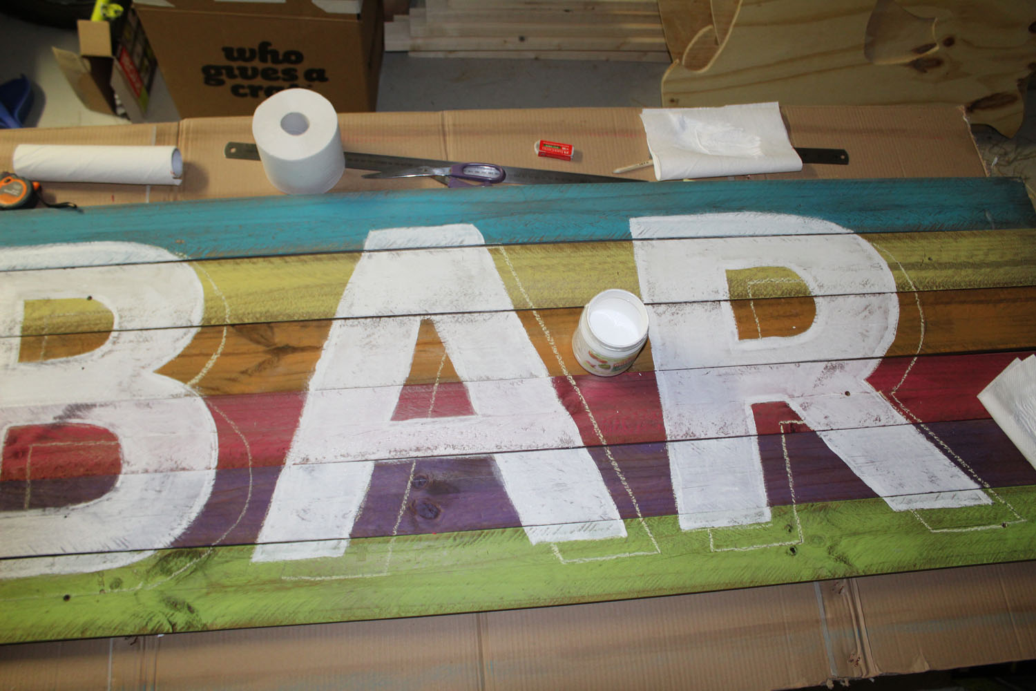 Tutorial – How to make a Rustic Bar Sign