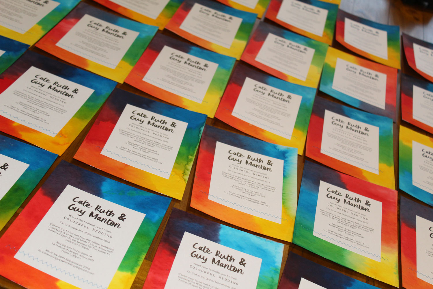 Tutorial – How to make DIY Colourful Wedding Invitations