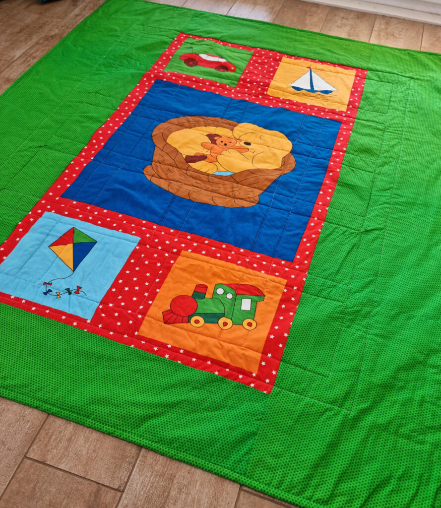 The back of the baby quilt