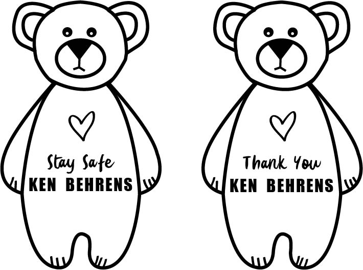 Ken Behrens Bear Colouring Page