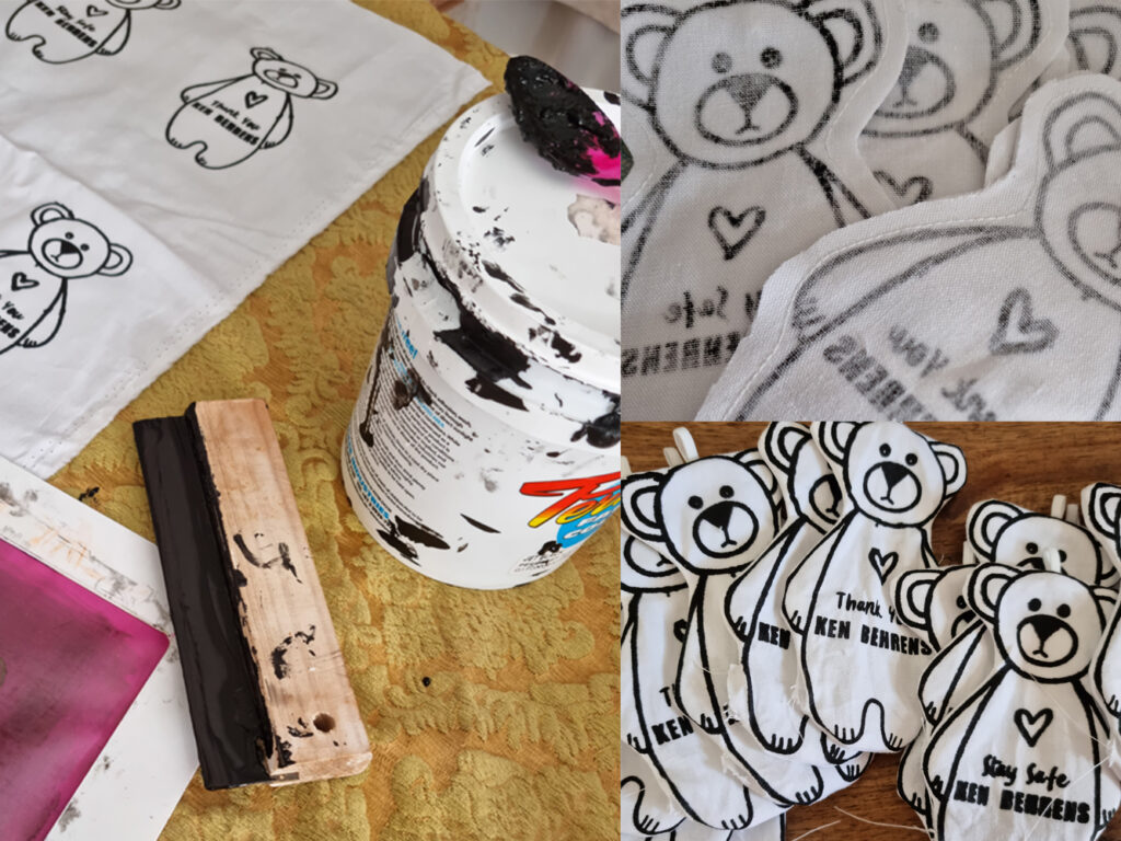 printing and sewing the Ken Behren Bears