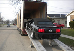 dufrane moving & storage: vehicle transportation in enclosed trailer