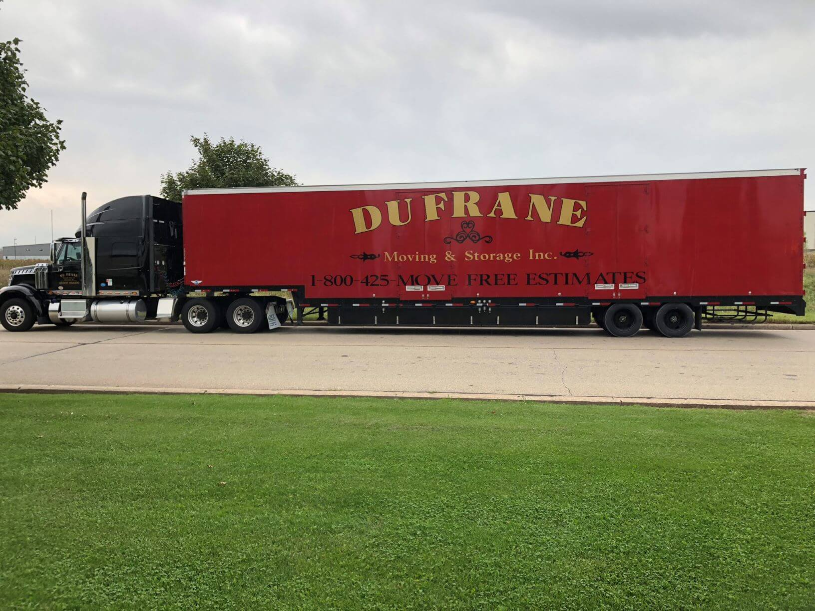 dufrane moving & storage - freight commercial interstate move