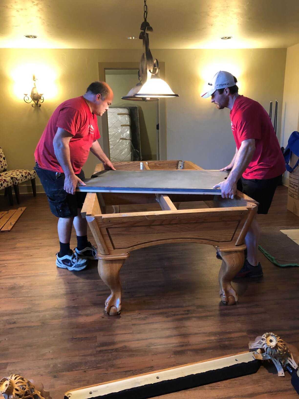 dufrane moving & storage - pool table move