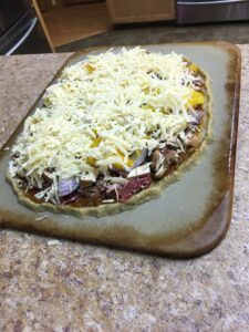 Pizza – grain-free, lectin-reduced
