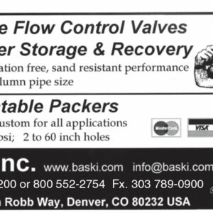 Baski Inc. - Downhole Flow Control Valves Storage & Recovery