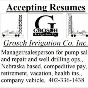 Accepting Resumes - Grosch Irrigation Co. Inc.
