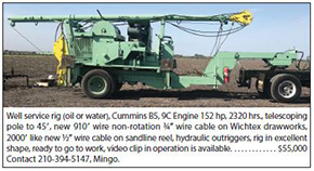 Well Service Rig (Oil or Water) for Sale