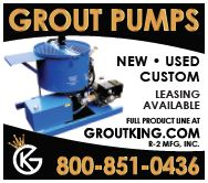 Grout Pumps--New, Used, Custom