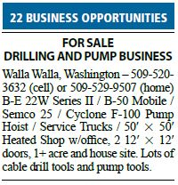 Water Well Drilling Business for Sale