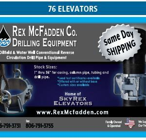 Rex McFadden Carries Water Well Conventional Reverse Circulation Drill Pipe and Equipment