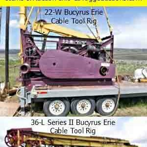 Lucas Ward Drilling Inc. and Arlo Lloyd Liquidation of Equipment Cable Tool Rigs and Tools
