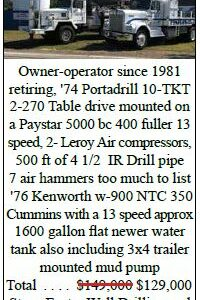 Owner-Operator Since 1981 Is Retiring and Selling Rig and Equipment
