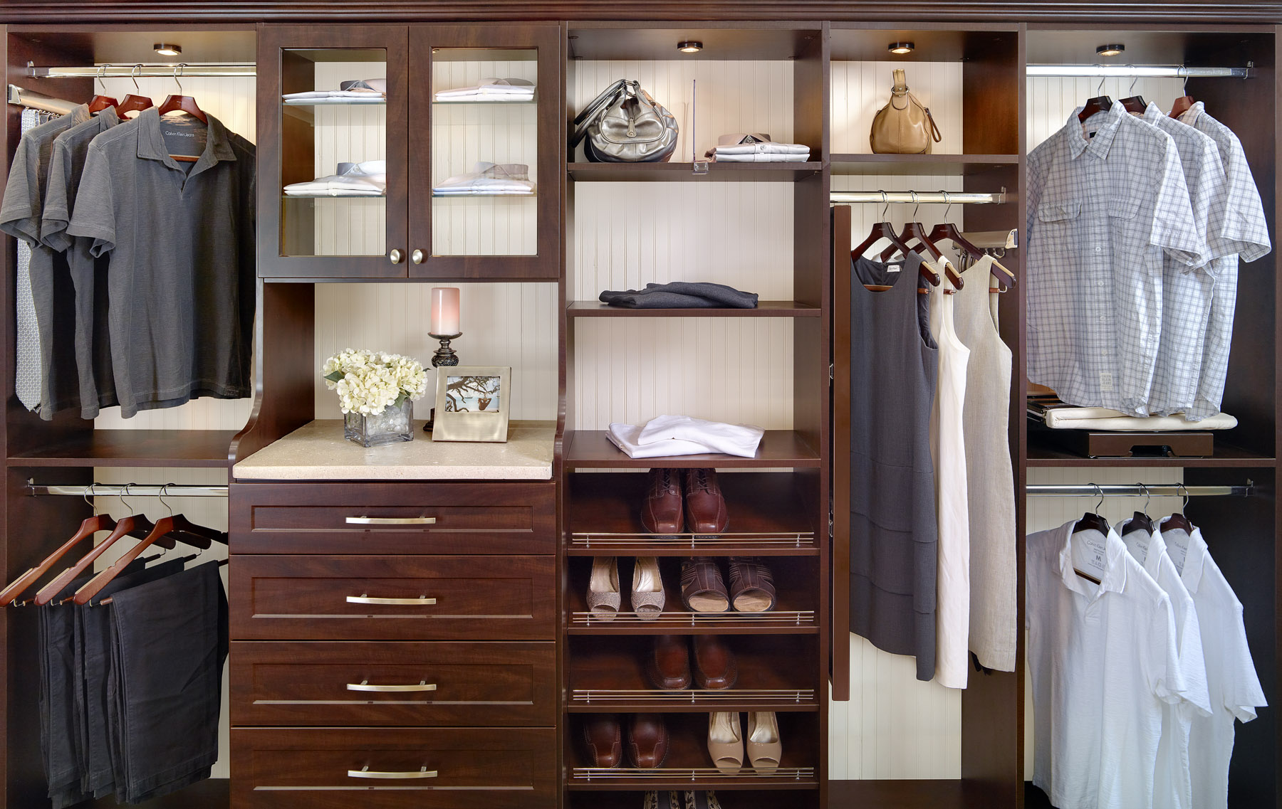 Tailored Closets Master Closet Brown