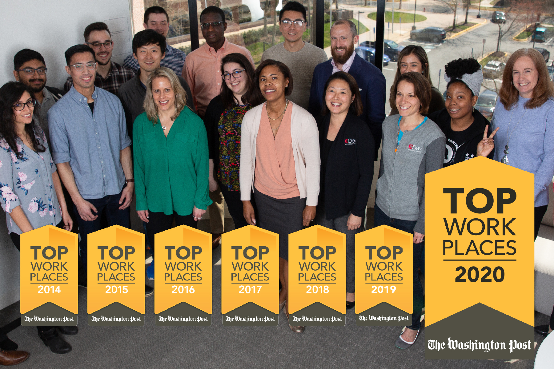 Dev Technology Ranked #17 in the Washington Post Top Workplaces