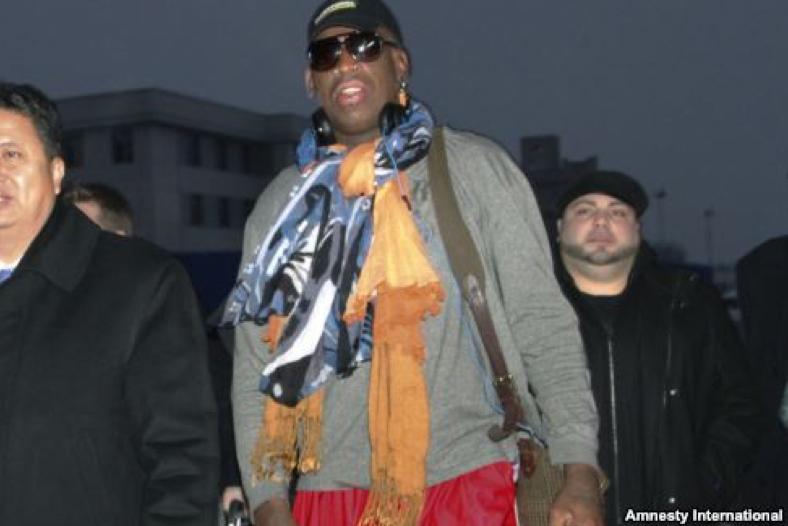 Rodman otra vez en Corea