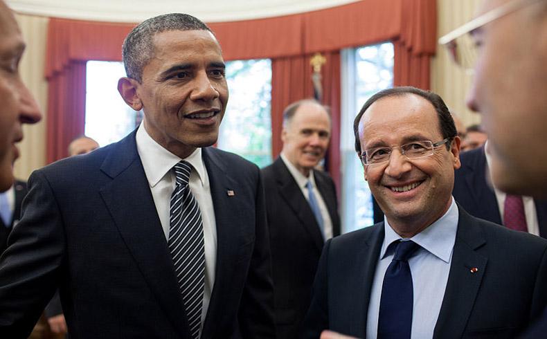 Hollande y Obama: Alianza entre los dos países