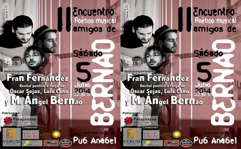 II Encuentro Poético-Musical amigos de Bernao, una realidad