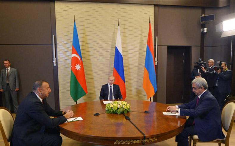 Putin recibe a los presidentes de Armenia y Azerbaiyán en torno a las negociaciones por Nagorno Karabaj