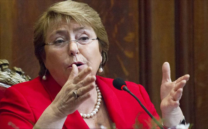 """Bachelet explicó el proceso de reformas en Chile que son parte de """"un acuerdo nacional"""""""
