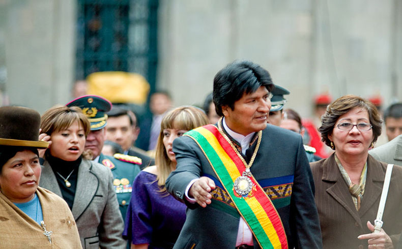 El Sr. Presidente Evo Morales en visita de Estado, la semana pasada en Argentina