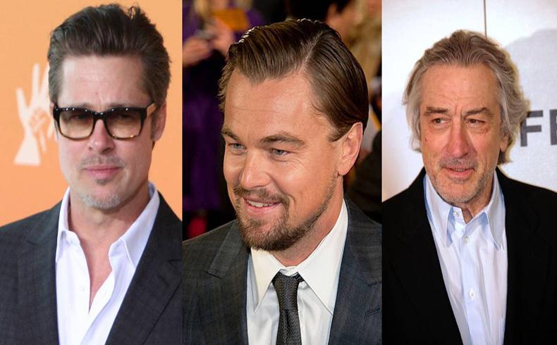 Brad Pitt, DiCaprio y De Niro participan en un spot para una empresa dedicada al entretenimiento