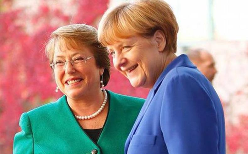 Merkel y Bachelet discuten sobre comercio, educación y energías renovables