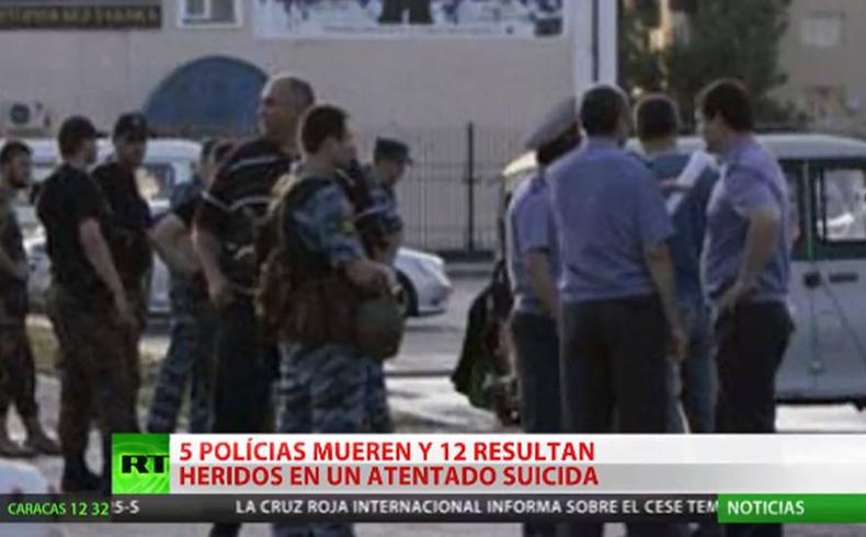 Cinco policías mueren al intentar impedir un atentado en la república rusa de Chechenia