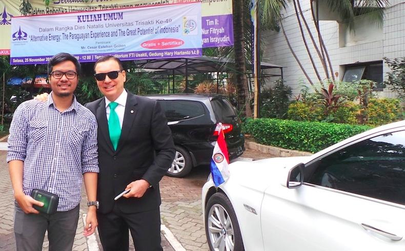 """Paraguay: Embajador en Indonesiadicto ConferenciaEnergetica en Prestigiosa """"Universitas Trisakti"""" deJakarta"""