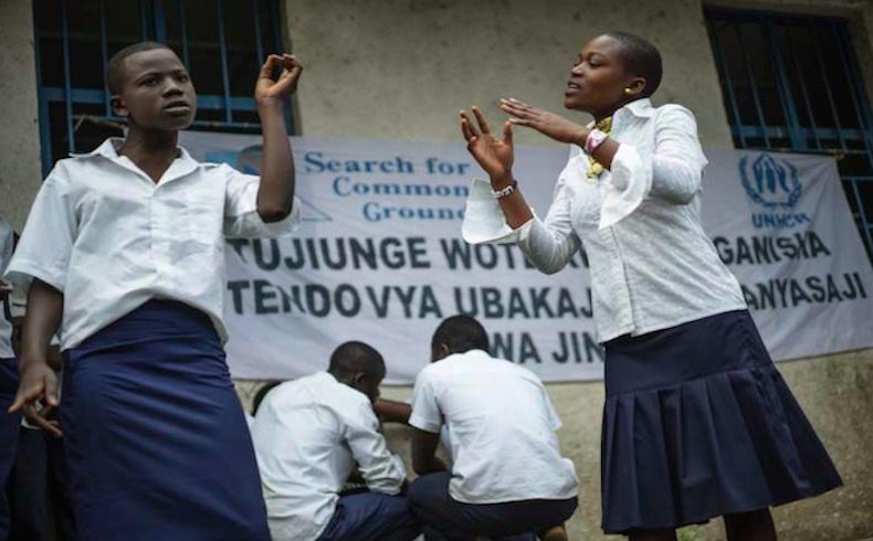 Obra de teatro infantil con un importante mensaje para los jóvenes en el este de la RDC